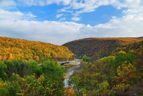 fall foliage poconos