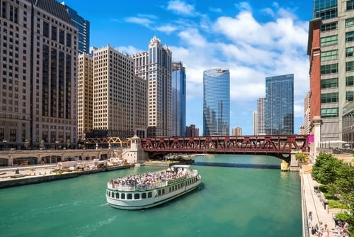 City of Chicago boat tour