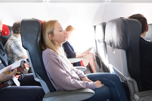 spring travel airline seat